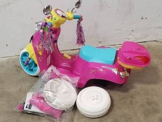 Kids Battery Powered Moped For Parts Or Repair