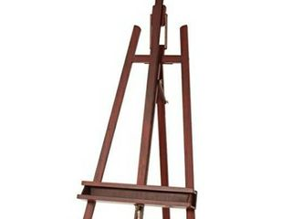 MEEDEN large Painters Easel Adjustable Solid Beech Wood Artist Easel  Studio Easel for Adults with Brush Holder  Holds Canvas up to 48