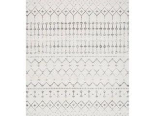 nulOOM Moroccan Blythe Area Rug  6  7  x 9  Grey Off white