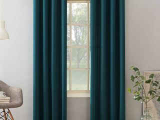 95 x54  Seymour Grommet Top Room Darkening Window Curtain Panel Teal   Sun Zero