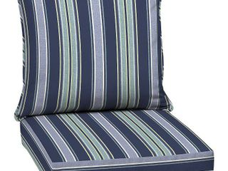Arden Selections Sapphire Aurora Stripe Outdoor Deep Seat Set   46 5 in l x 25 in W x 6 5 in H