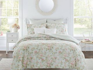 laura Ashley Madelynn Comforter Full Queen Bonus Set Bedding