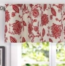 Porch   Den Oleson Jacobean Floral linen Blend Blackout Window Valance   50 x 18