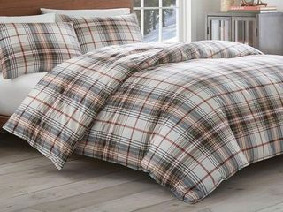 Eddie Bauer Classic Plaid Comforter Set Retail 114 98