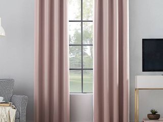 84 x52  Oslo Theater Grade Extreme Blackout Grommet Top Curtain Panel Blush   Sun Zero