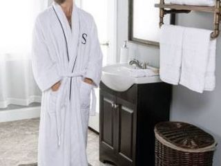 Miranda Haus Egyptian Cotton Monogrammed Adult Unisex Bathrobe