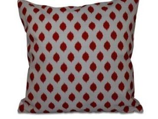 16 x 16 inch Cop IKAT Geometric Print Outdoor Pillow