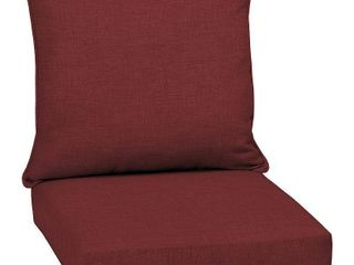 Arden Selections Ruby leala Texture Outdoor Deep Seat Set   46 5 in l x 25 in W x 6 5 in H