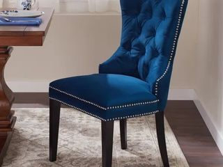 Abbyson Versailles Blue Tufted Dining Chair  1 chair only