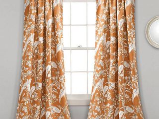 lush Decor Dolores Room Darkening Floral Curtain Panel Pair