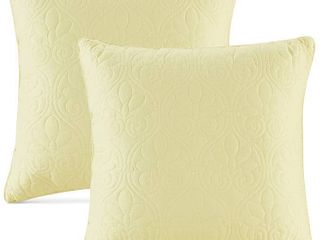 Microfiber Sonic Quilted Honeycomb Throw Pillow  Set of 2