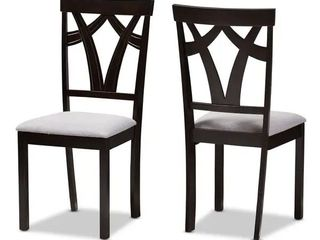 Copper Grove Cyril Contemporary Fabric Set of 2 Dining Chairs