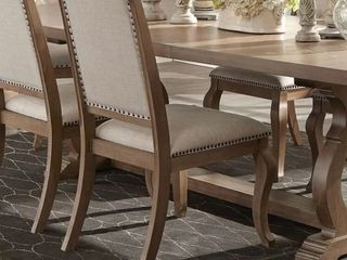 The Gray Barn Noon Blaze Tufted Back Upholstered Dining Chairs  Set of 2  Retail 319 99