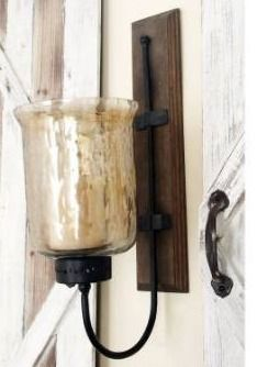 Porch   Den Mendota WD MTl Glass Candle Sconce
