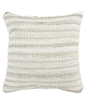 Rizzy Home Stripe Natural Beige Donny Osmond Home   20 x20