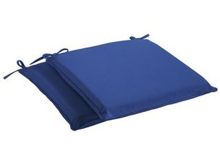 Humble   Haute Sunbrella Canvas True Blue Indoor  Outdoor Cushion  Set of 2