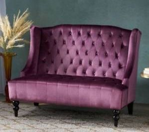 leora Winged loveseat   Christopher Knight Home  has a tear  see photos