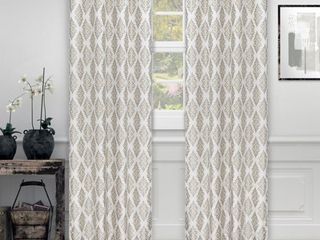 Impressions Sandor Damask Jacquard Curtains Set of 2 with Grommet Header