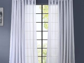 Half Price Drapes Signature Double layered   Double Wide Sheer Single Curtain Panel