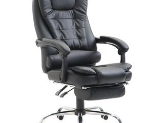 HomCom Reclining PU leather Executive Home Office Chair  missing wheels   hardware