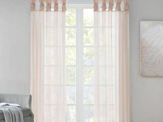 Home Essence Persis Twist Tab Voile Sheer Window Pair