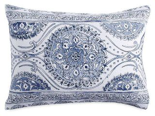Peri Home Matelasse Medallion Sham  Size King   Blue