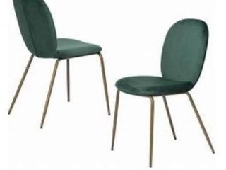 Furniture R Jule Green Dining Chairs  set of 2  missing hardware