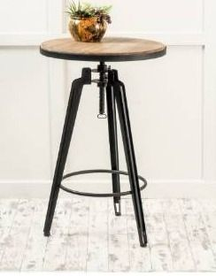 Noble house home furnishings Contemporary Antique Color Firwood Swivel Bar Table