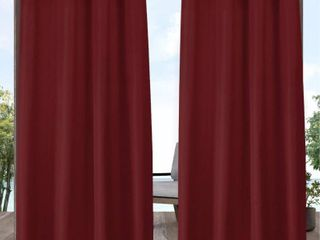 ATI Home Indoor Outdoor Solid Cabana Grommet Top Curtain Panel Pair  2 panels