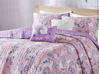 Urban Habitat Kids Pink Full Queen Cotton Printed Coverlet Set