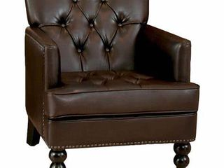 Malone Brown leather Club Chair by Christopher Knight Home Retail 247 99