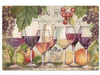 Decorative Anti Fatigue Floor Mat 30  x 20    Wine Country