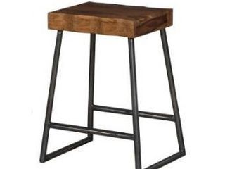 Carbon loft Mattison live Edge Square Non swivel Backless Counter Stool   17 W x 14 l x 26 H Retail 139 99
