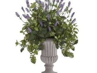 35  lavender and Dusty Miller Artificial Plant in Urn Retail 126 99