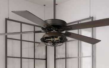 Carbon loft Dagmar 52 inch Farmhouse lantern 5 blade lED Ceiling Fan Retail 182 99