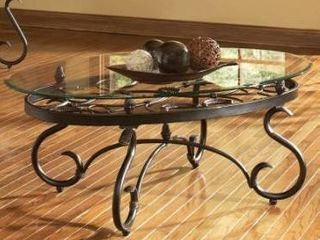 Gracewood hollow fishta antique brass coffee table