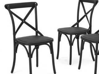 Set of 2 only   Danish Outdoor Farmhouse Dining Chair  Set of 2  by Christopher Knight Home