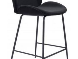 Zuo Miles Black bar chair