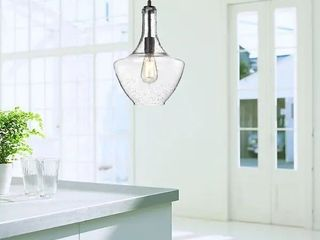 luna Antique Black Single light Clear Glass Bowl Pendant Chandelier Retail 129 49