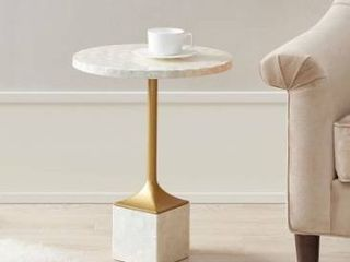 Madison park Bonny ivory accent table