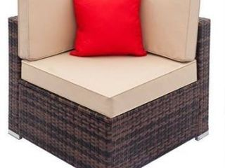 Corner piece only   Gereja Outdoor Rattan Sectional Sofa corner by Havenside Home