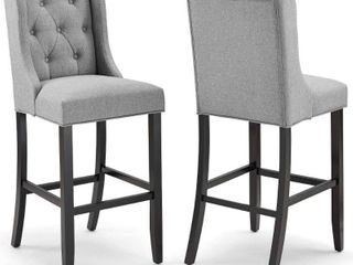 Only 1 chair   Baronet Bar Stool Upholstered Fabric chair