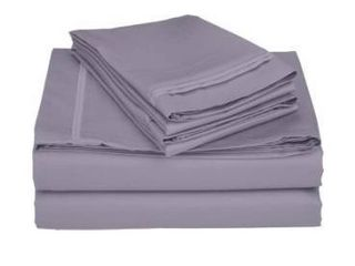 Superior Egyptian Cotton 650 Thread Count Deep Pocket Solid Bed Sheet Set Retail 126 49
