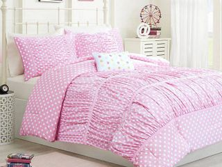 Marie Comforter Set  Twin Twin Extra long   3pc   Pink