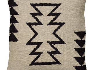 Rizzy Home Woven Southwest Patterned Wool and Cotton 18 inch Decorative Throw Pillow