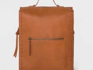 Whipstitch Square Backpack   Universal Thread Cognac  Red