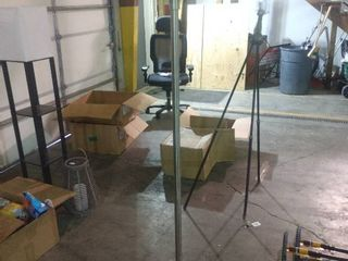 Silver Floor lamp   As Is  Needs Power Cord