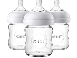 Philips Avent Natural Glass 4 Oz  Baby Bottle  3 Count