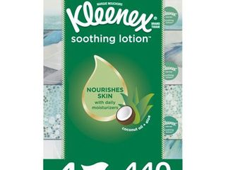 Set of 16   Kleenex Soothing lotion Facial Tissues  4 Flat Boxes  440 Total Tissues