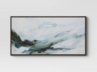 47  x 24  Abstract Mountain Framed Canvas   Project 62   small scuff on frame
